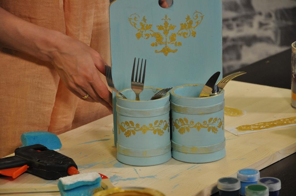 Органайзер для кухонных принадлежностей своими руками