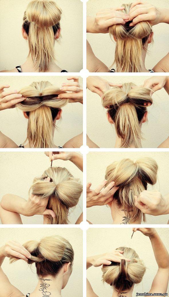 Как сделать прически из волос фото
