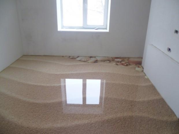 наливной пол в виде песка