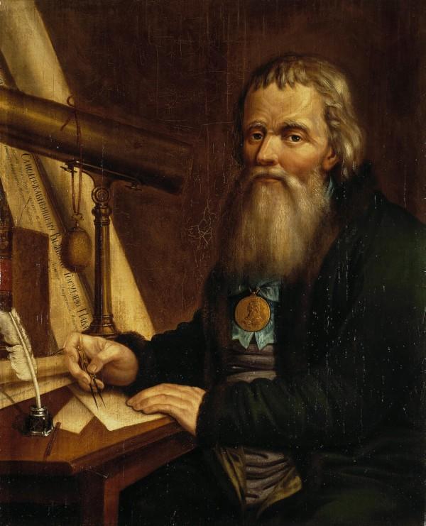 Портрет Ивана Кулибина работы Павла Веденецкого (1818 год)