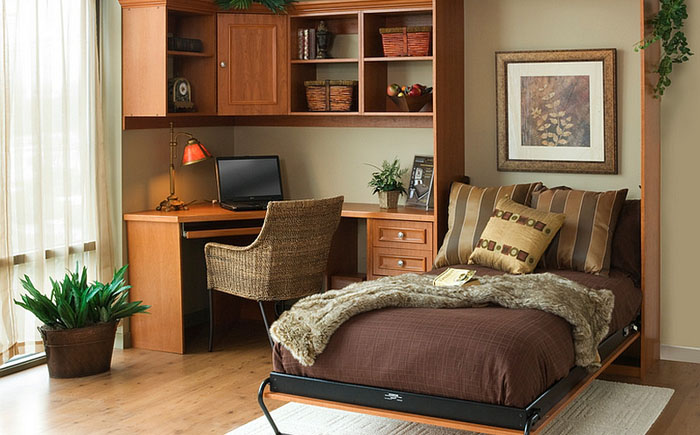 Спальня с кроватью-шкафом
