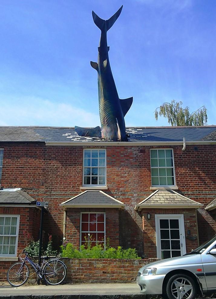 Акула. Оксфорд, Великобритания. достопримечательности, искусство, памятники
