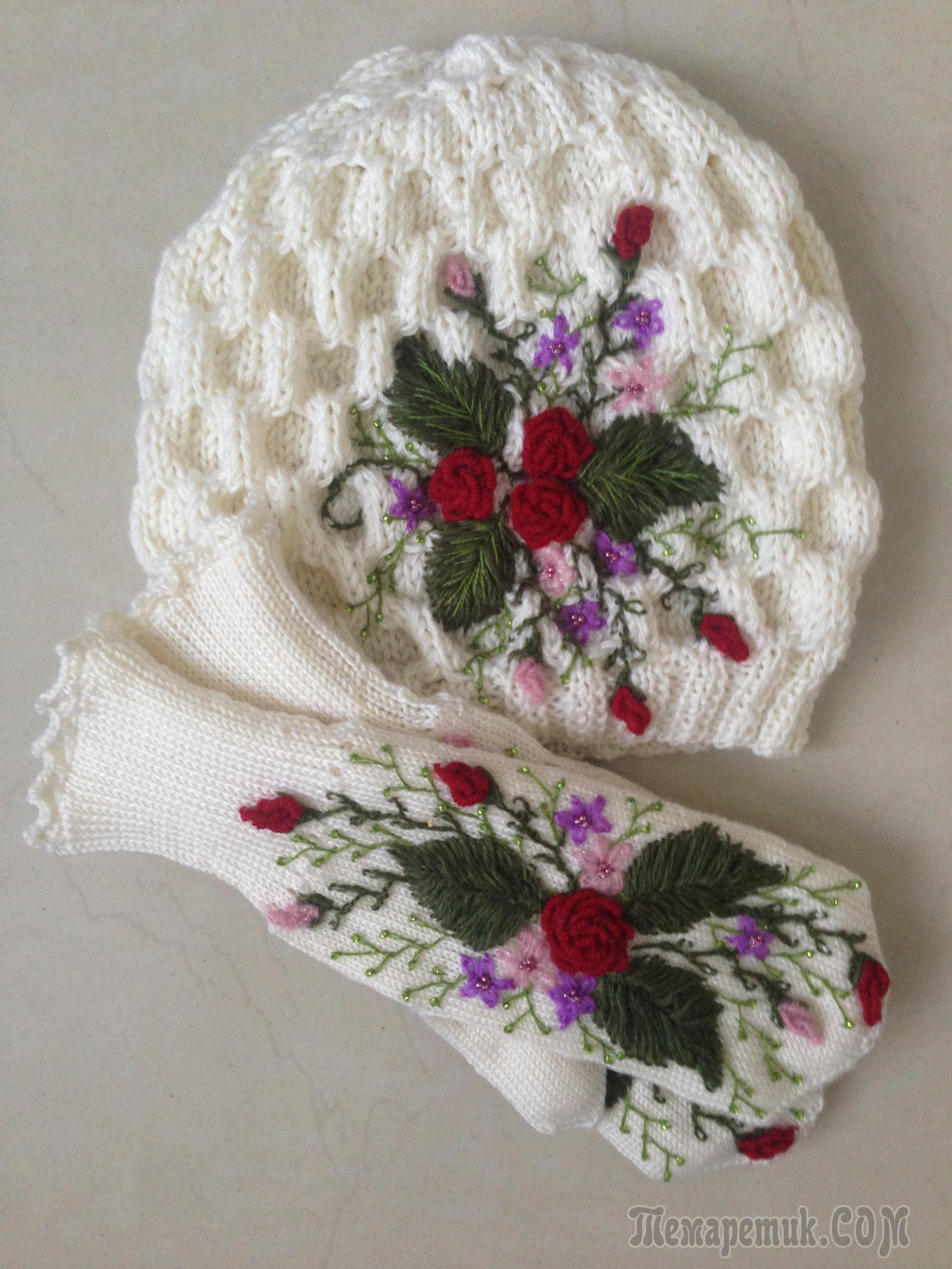 Украшение детских шапочек вышивкой