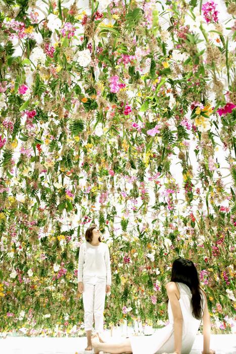 Сад парящих цветов.