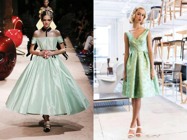 Модный люситовый зеленый цвет весна-лето 2015