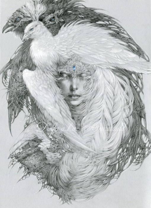 Белая мечта (White dream). Волшебные работы Ольги Исаевой (Olga Isaeva).
