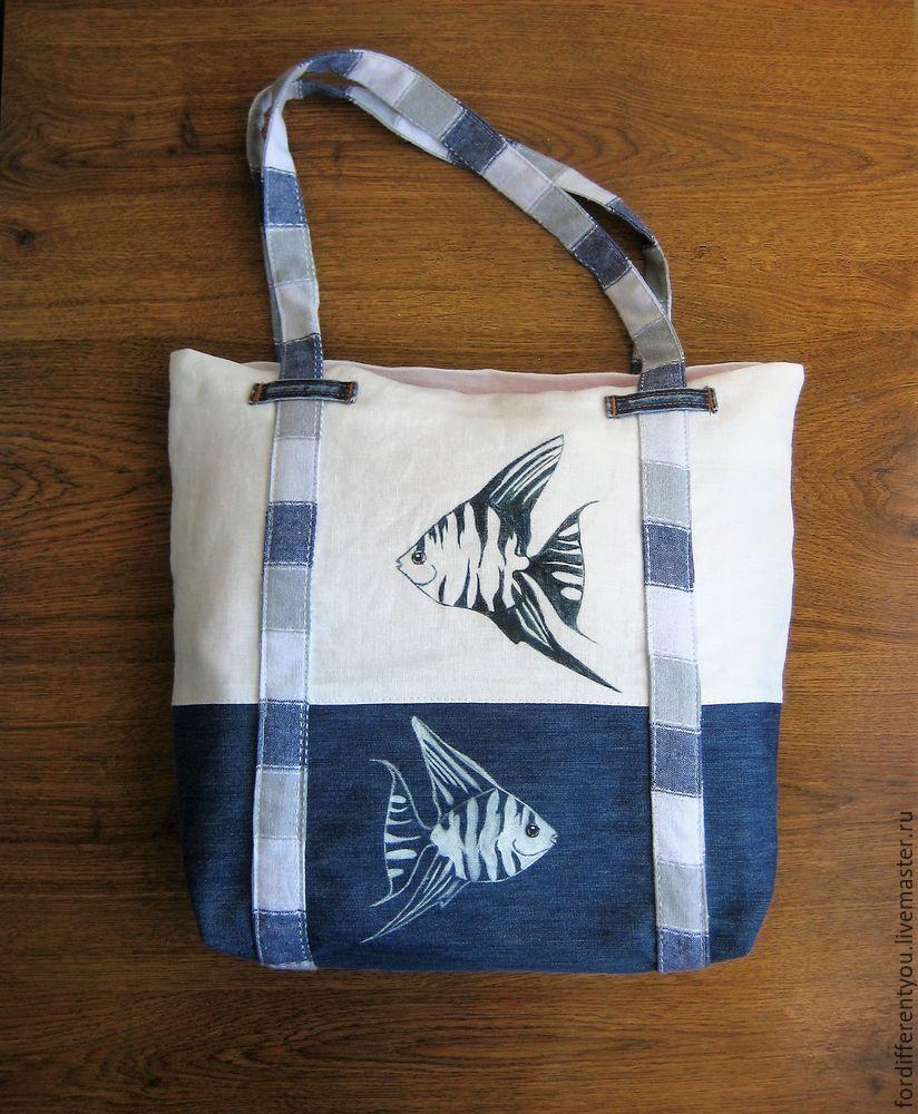 Оригинальная пляжная сумка своими руками 18