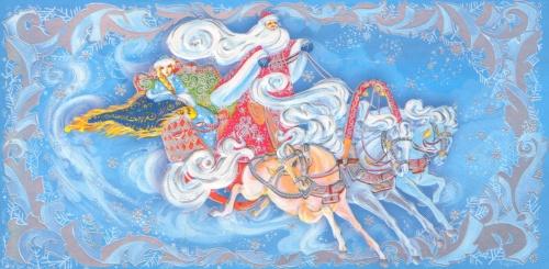 New Year postcards illustrator Marina Fedotova  Новогодние открытки иллюстратора Марины Федотовой (22 работ)