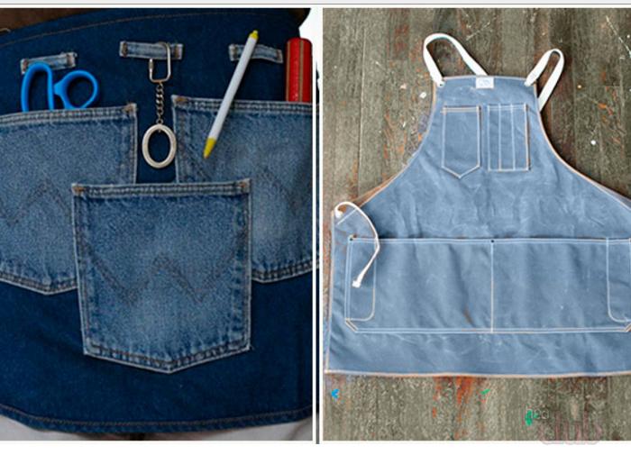 Что можно сшить из старых джинсов своими руками 18