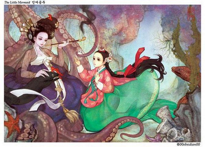 Корейские иллюстрации к европейским мультфильмам