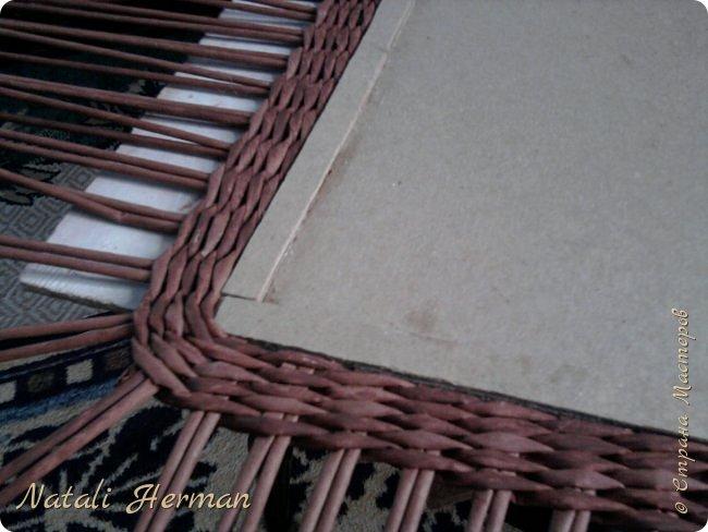 Мастер-класс Рама паспарту Плетение Рамочки Трубочки бумажные фото 3