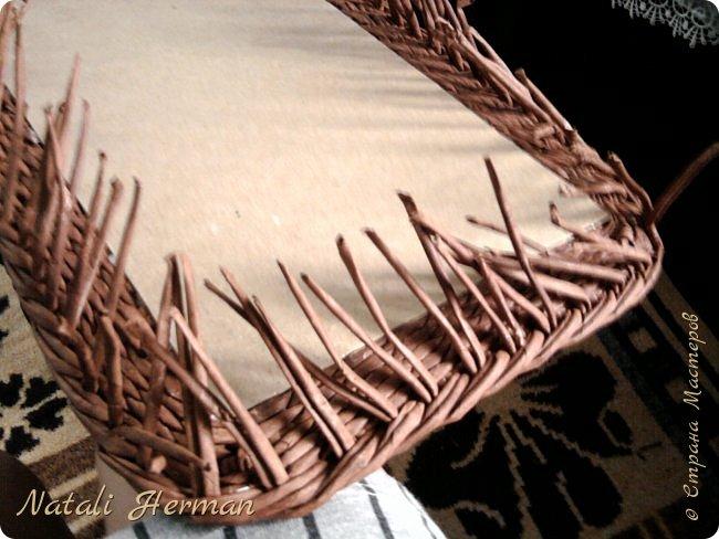 Мастер-класс Рама паспарту Плетение Рамочки Трубочки бумажные фото 8