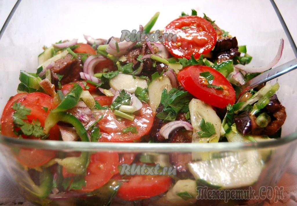 Легкие салаты на масле рецепты