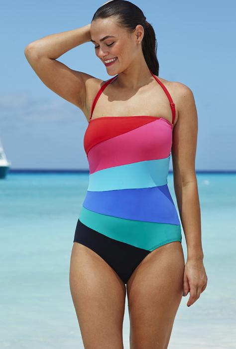 Модные слитные купальники: стильно и сексуально: Восхитительный яркий купальник, в котором невозможно потеряться на людном пляже или остаться незамеченной на пенной вечеринке.