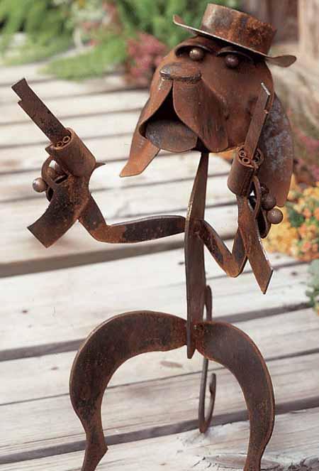 Садовые фигуры из металла своими руками