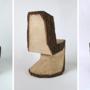 стул из бревна Peter Jacubik