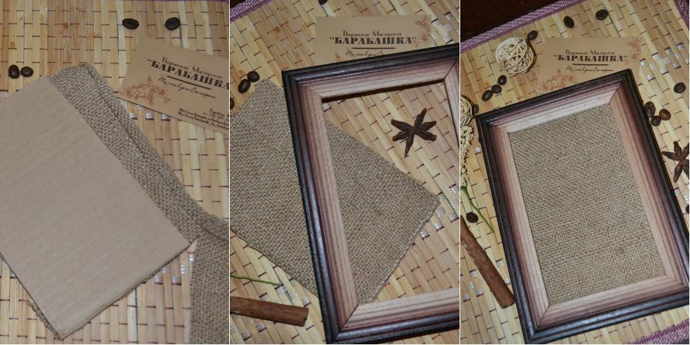 Картины из мешковины своими руками 3