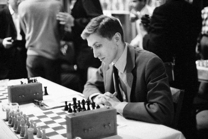 Американский шахматист Бобби Фишер (Bobby Fischer). | Фото: kulturologia.ru.
