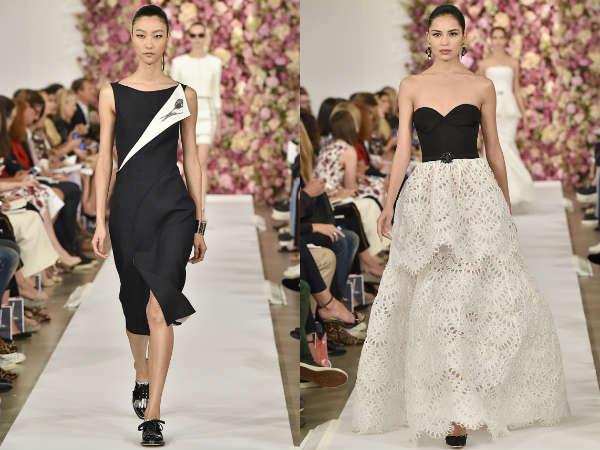 Модная черно-белая гамма весна-лето 2015