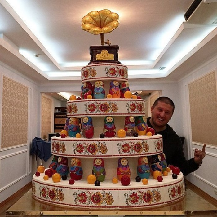 Чудесные матрешки на торте Рената Агзамова