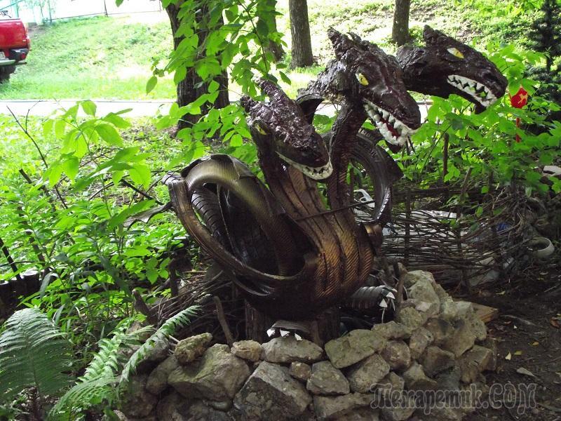 Змей горыныч своими руками из дерева 65