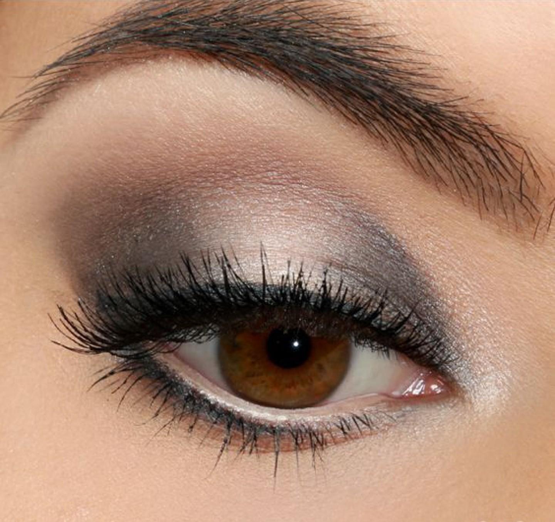 Смоки айс макияж для карих глаз