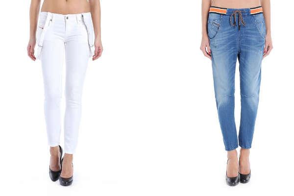 Модные джинсы на резинках и подтяжках осень-зима 2015-2016