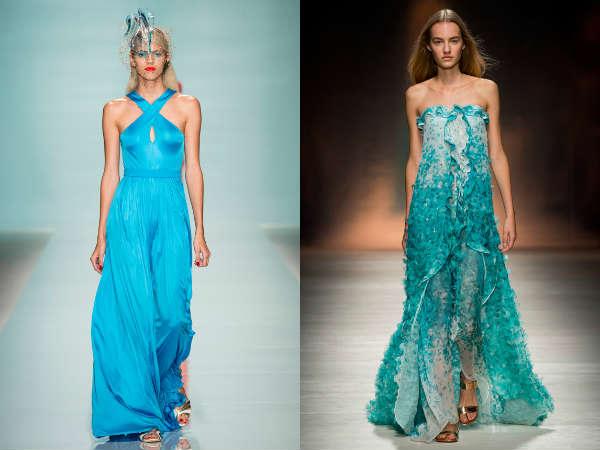 Модный лазурно-голубой цвет весна-лето 2015