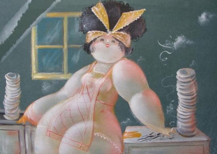 Очаровательные пышечки в работах художника Никола Виетти (Nicola Vietti).