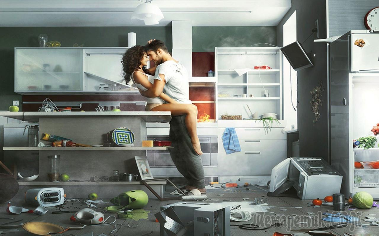 Русская пара на кухне 18 фотография