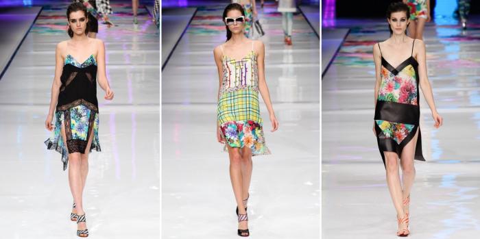Яркие платья-комбинации от известного бренда Just Cavalli.