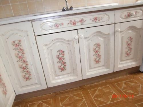 Реставрация кухонного старого гарнитура