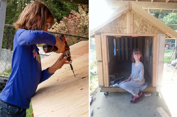 Хэйли Форд строит мобильные жилища для бездомных.