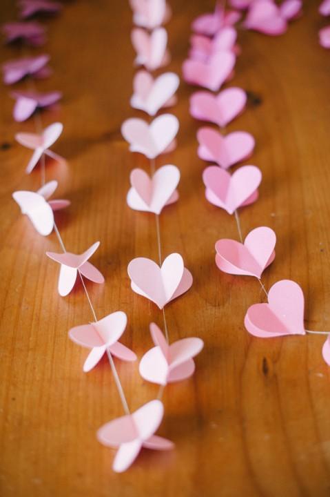 Гирлянда сердечко из бумаги своими руками