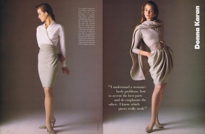 Модели Донны Каран 1987г.| pattern-vault.com