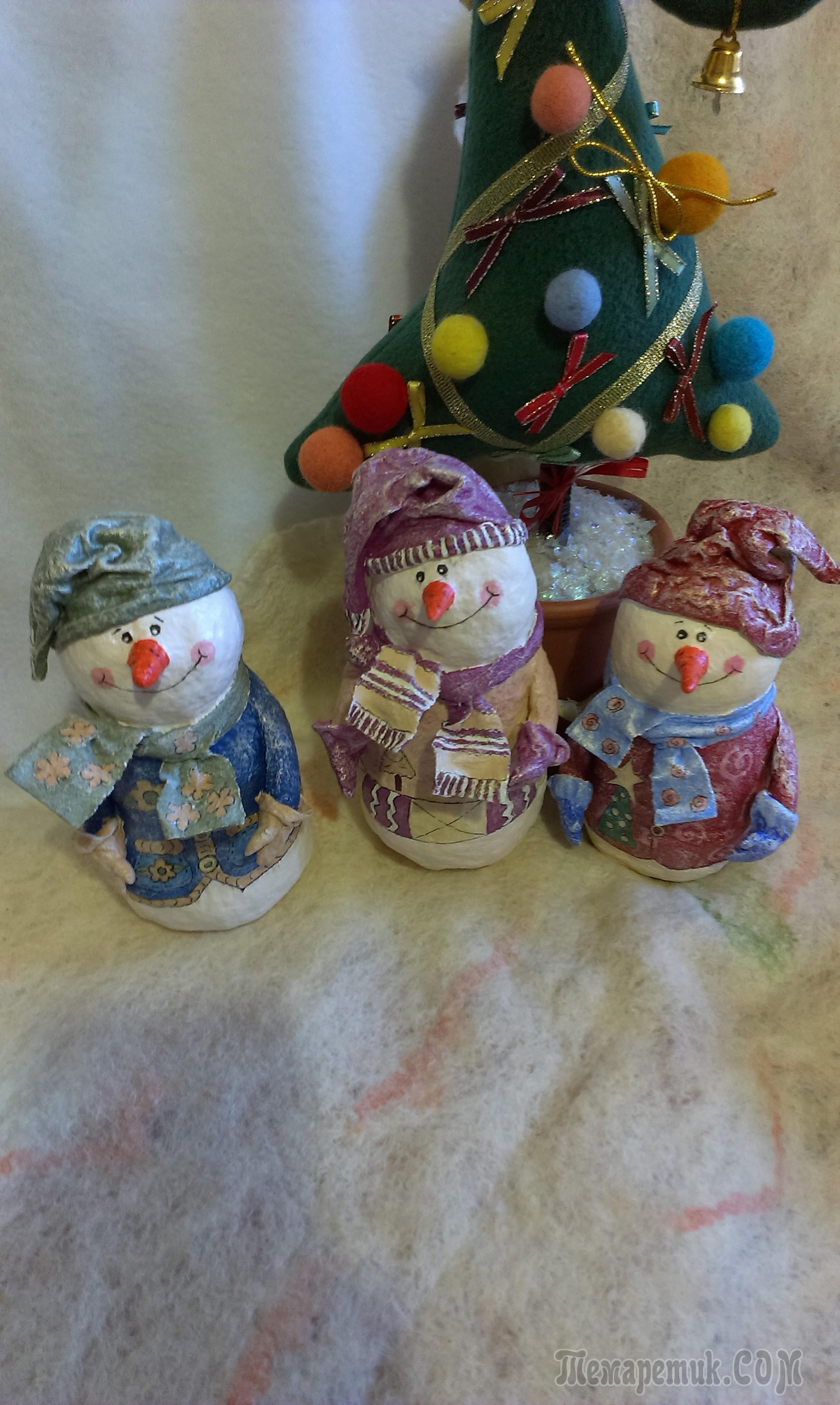 Папье-маше новогодние игрушки своими руками