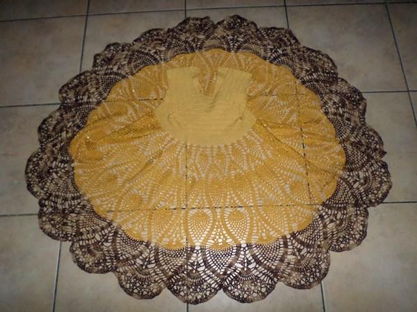 Юбка вязаного платья крючком