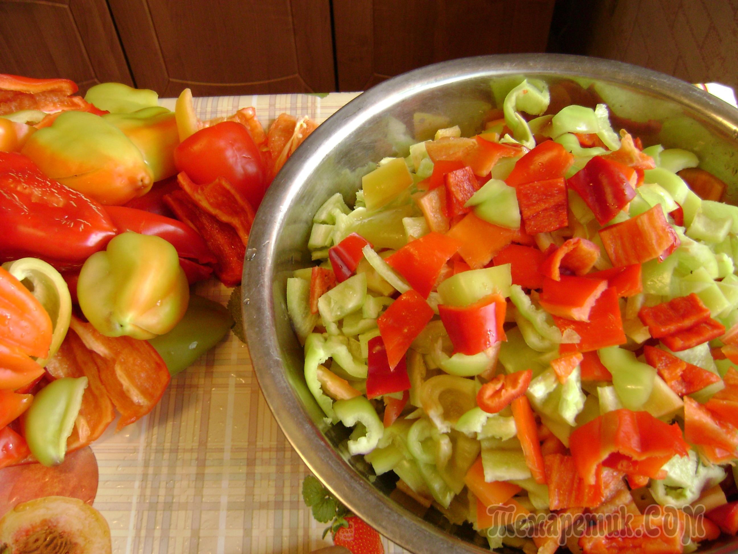 лечо 3 кг помидор 1 кг перца