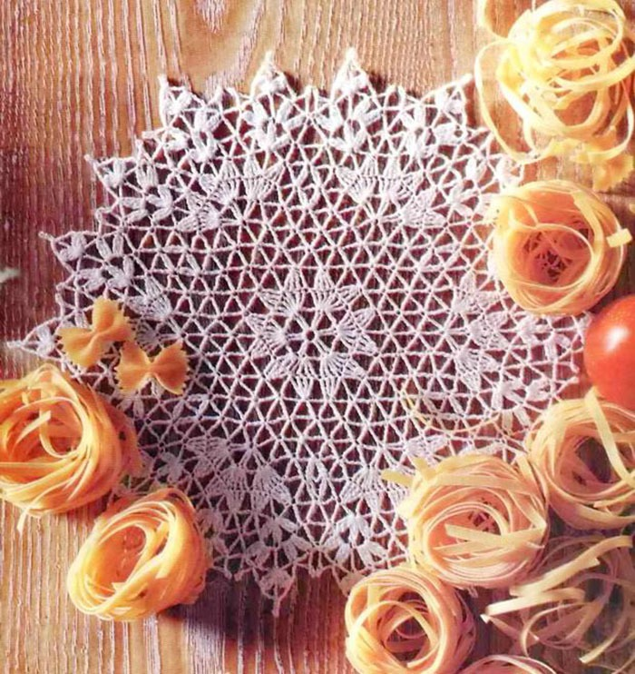 шарф ажурные крючком со схемами