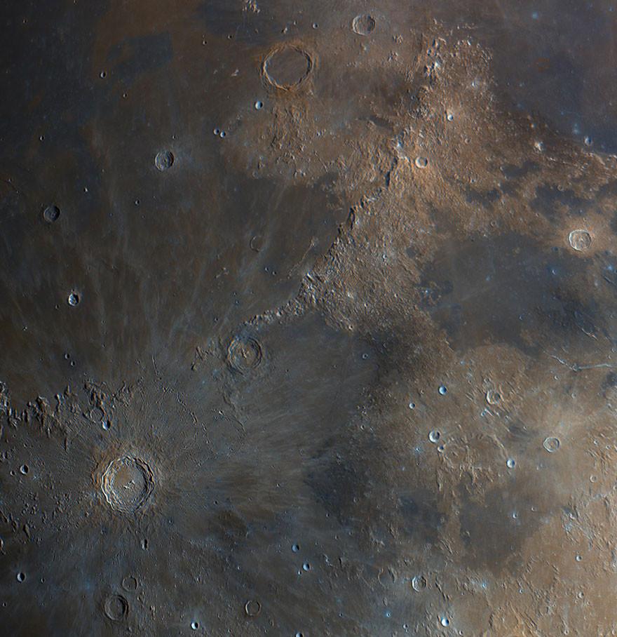 Луна в высоком разрешении Инфокарт