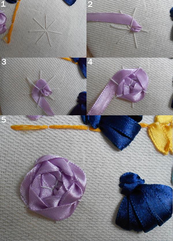 на какой ткани вышивают лентами друг друга