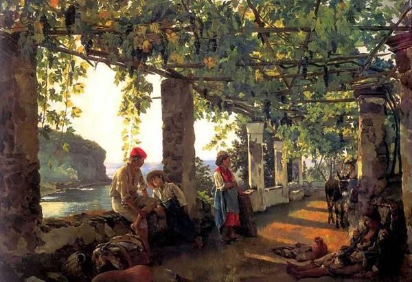 Веранда, обвитая виноградом. Сильвестр Щедрин
