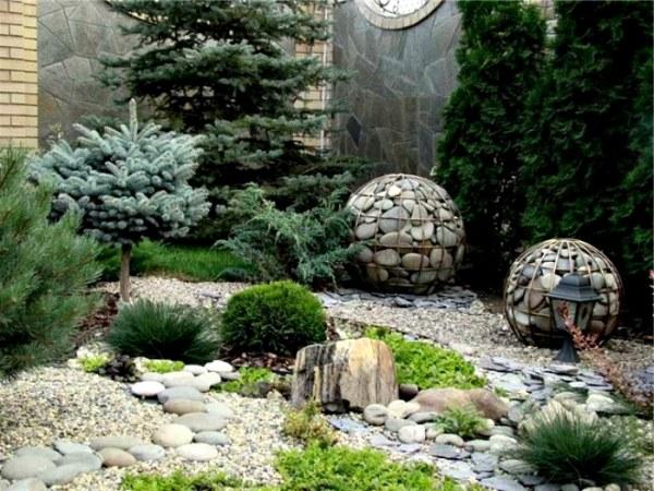 Примеры использования камней в ландшафтном дизайне (17 фото)