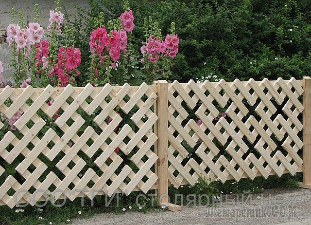 Фото как красиво сделать забор палисадника