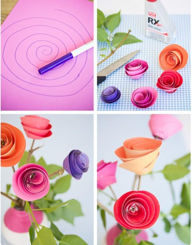 Букет цветов из бумаги своими руками