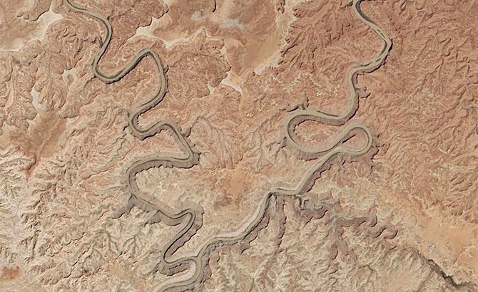 Красивые места на Земле: вид из космоса