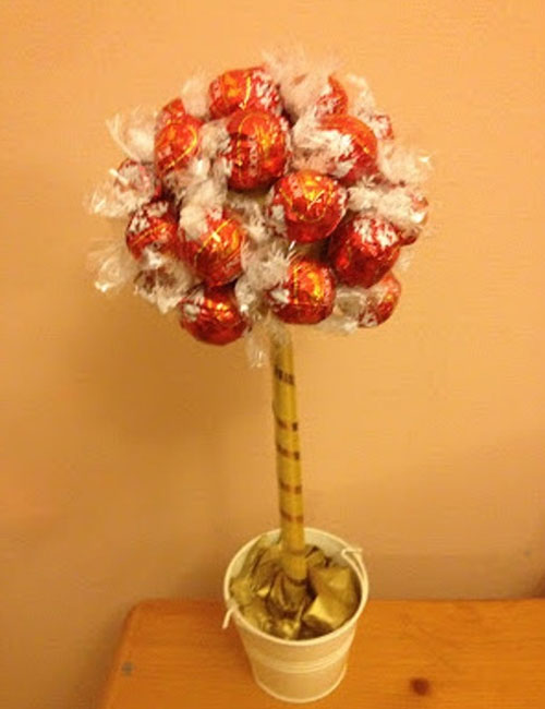 Дерево из конфет своими руками пошаговые фото 87