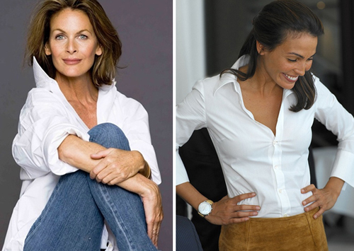 Женщины средних лет в белых рубашках