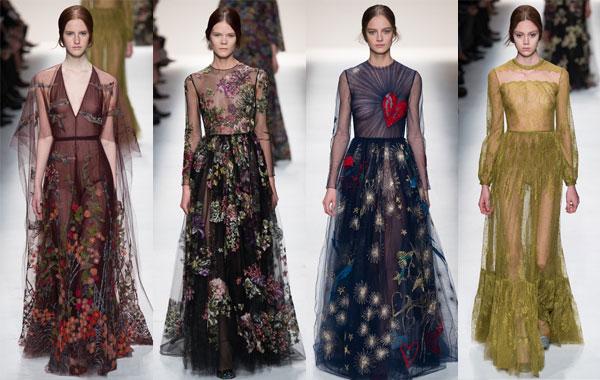 Модные вечерние платья от valentino осень