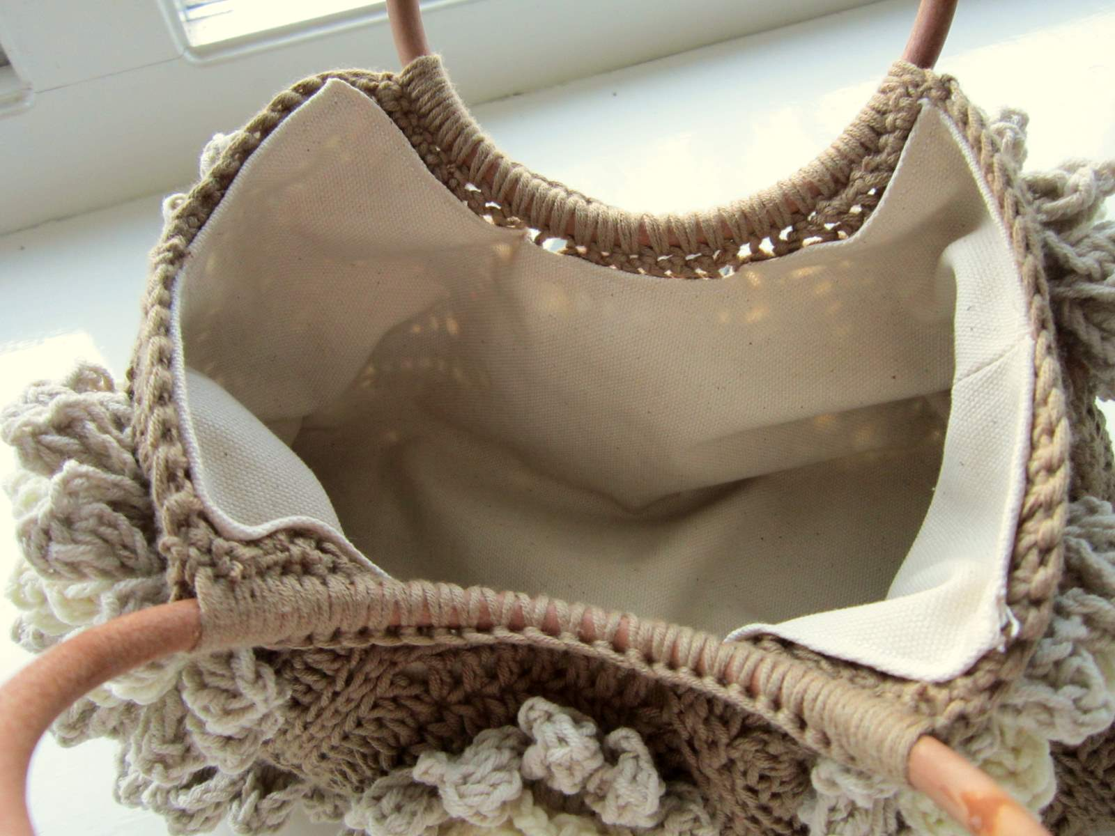 Вязание ручек для сумок